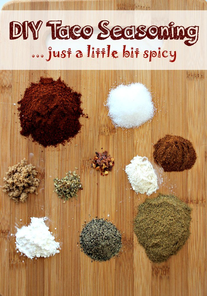 Just A Little Bit Spicy DIY Taco Seasoning Mix