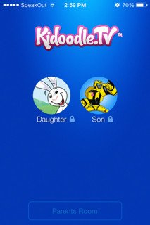 Kidoodle iPhone Profile Selection