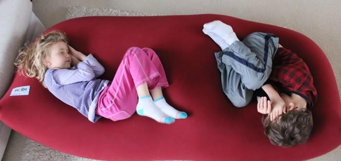 Kids cuddled on the Yogibo Max