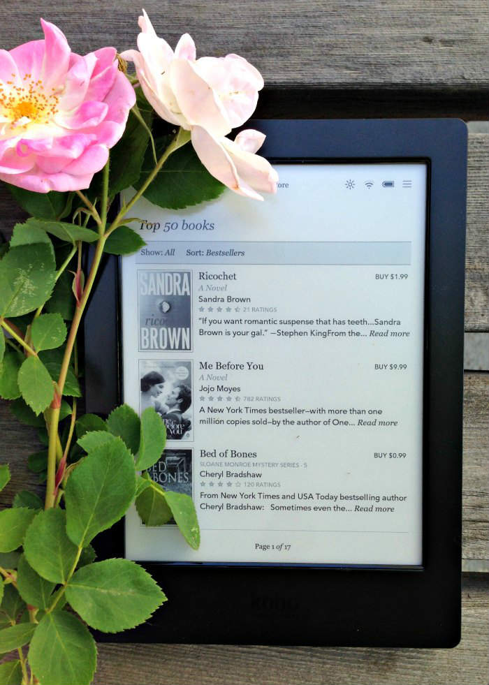 Kobo Aura H2O Top 50 books