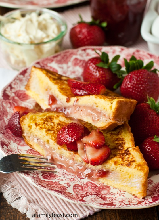 Marscapone Strawberry Stuffed French Toast by A Family Feast