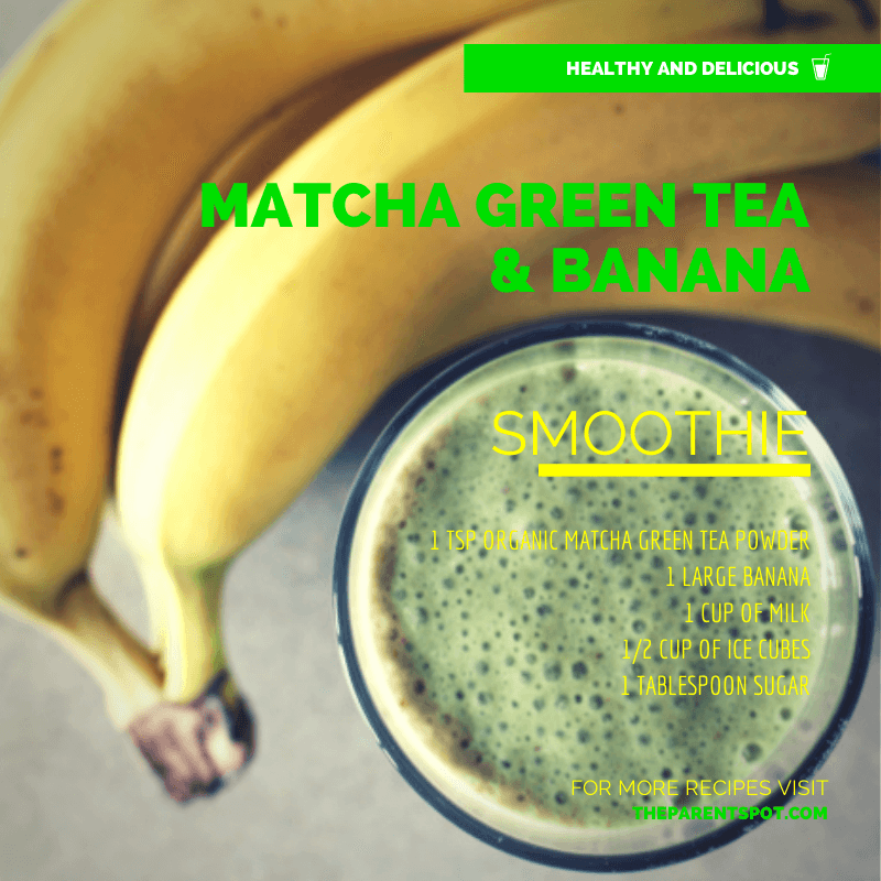 Matcha Green Tea and Banana Smoothie Recipe