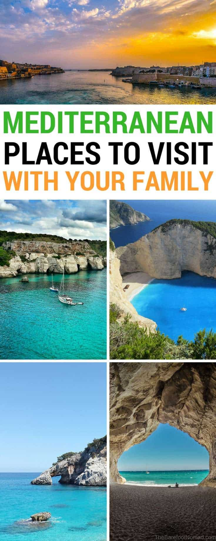 Mediterranean destinations to visit as a family