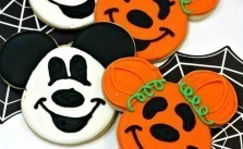 Mickey and Minnie Mouse Halloween Sugar Cookies