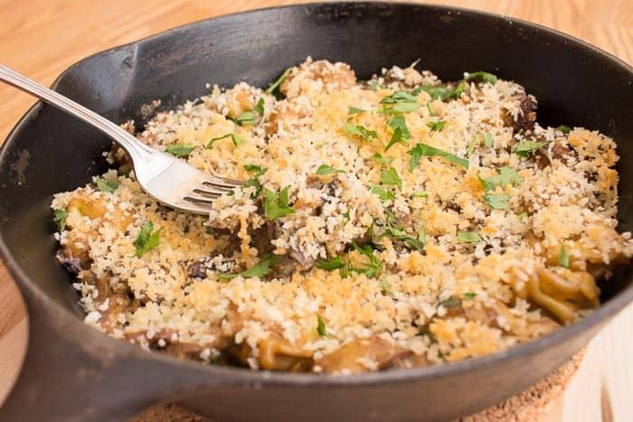 Mushroom tortellini HelloFresh in pan
