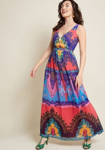 Muster the Length Maxi Dress in Indigo