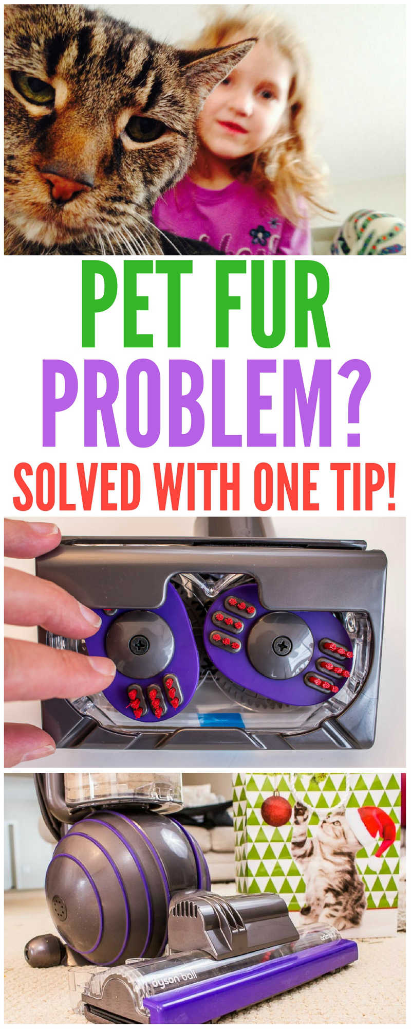 Are you tired of the mess from your dog or cat? We have one tip that will solve your pet fur removal problem forever.