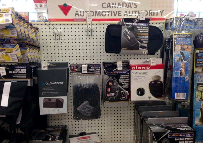 Organizing our Car with Canadian Tire - organization systems
