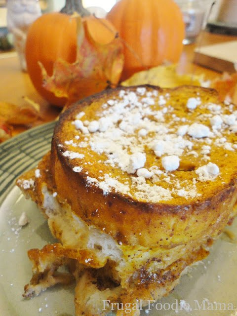 Overnight Pumpkin Pie Chai French Toast by The Frugal Foodie Mama
