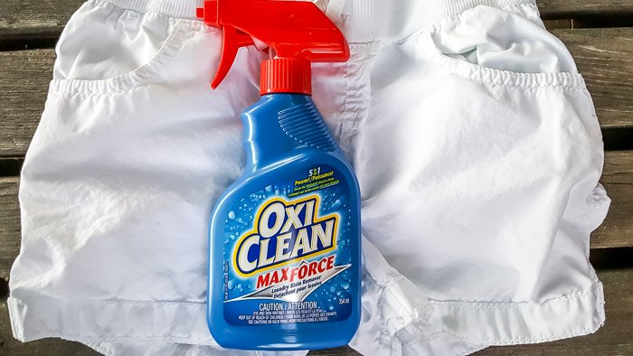 Chocolate stain gone with OxiClean