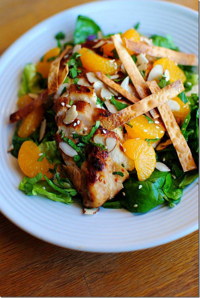 Panera Asian Sesame Chicken Salad from Iowa Girl Eats
