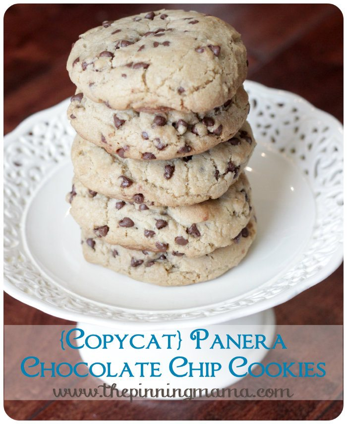 Panera Chewy Chocolate Chip Cookies by The Pinning Mama
