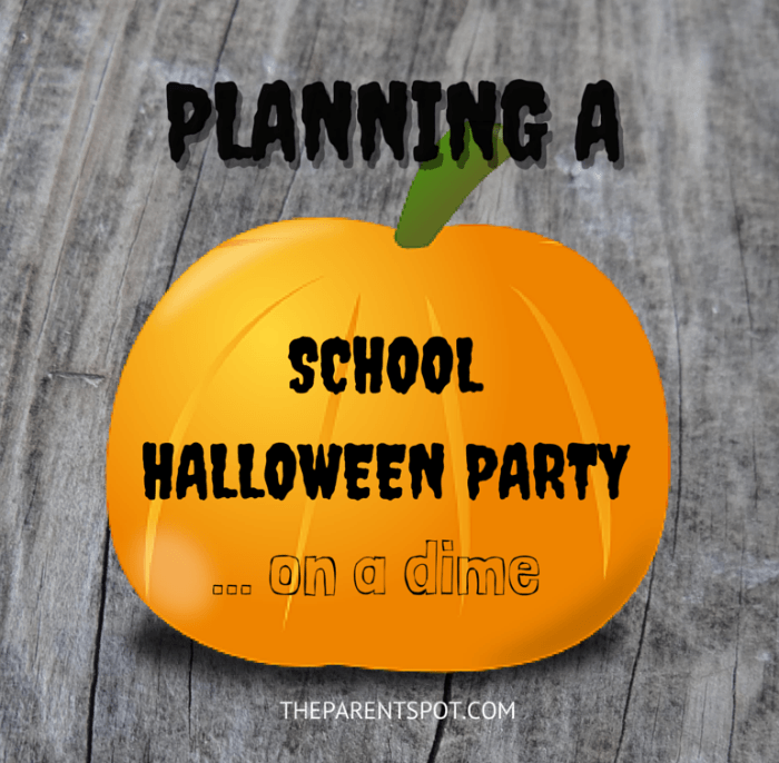 how to throw a school Halloween party on a budget
