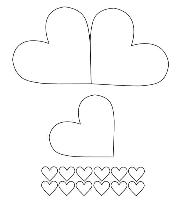 Printable Template for mothers day heart of paper for teens
