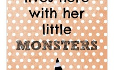 Printable Witch and Little Monsters
