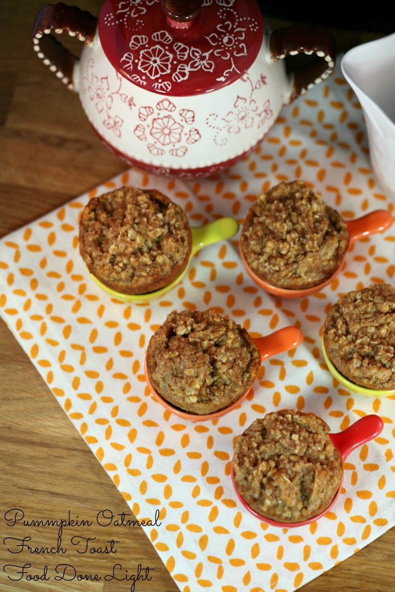 Pumpkin Butter Oatmeal French Toast Muffins by Food Done Light