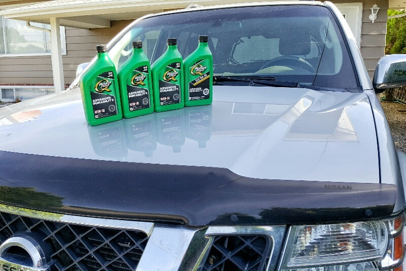 Quaker State Advanced Durability Motor Oil on Nissan