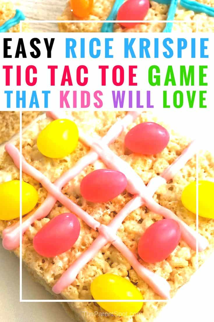 Rice Krispie Treat Tic Tac Toe Game for Kids