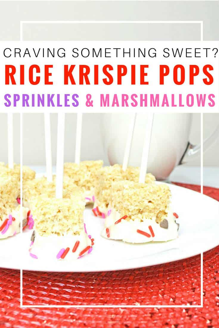 Rice Krispie pops with sprinkles. Anyone else craving some yummy Rice Krispie treats? I know I am! These are so easy to make, and the recipe includes full instructions. | Rice Krispie pops | Rice Krispie pops birthday | Rice Krispie pops recipe | How to make Rice Krispie pops | white chocolate dipped Rice Krispie pops | pink Rice Krispie pops | Rice Krispie pops with sprinkles and marshmallows #ricekrispiestreats #ricekrispies #dessert #sweet #dessertrecipes