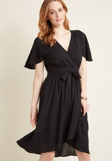 Romantic Renewal Midi Dress in Black_result