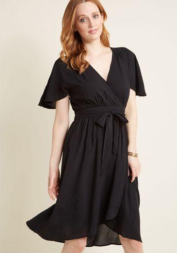 Romantic Renewal Midi Dress in Black_result