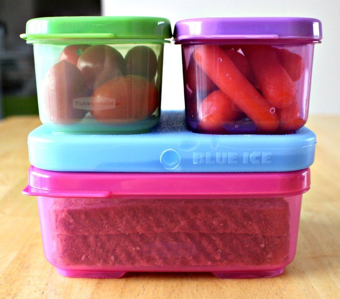 Rubbermaid LunchBlox Stacked up and ready for the lunchkit