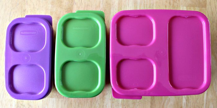 Rubbermaid LunchBlox a simple lunch with lids