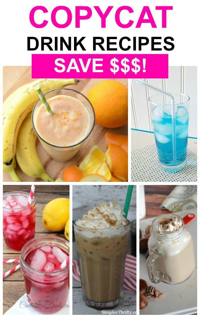 Tasty, easy copycat drink recipes | copycat starbucks drink recipes | copycat drinks recipes
