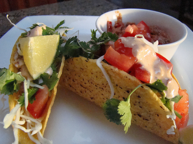Seitan Tacos by Janet Hudson on Flickr