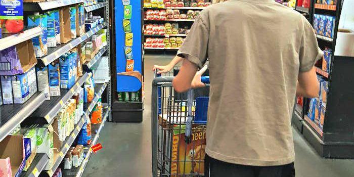 Shopping for Box Tops at Walmart