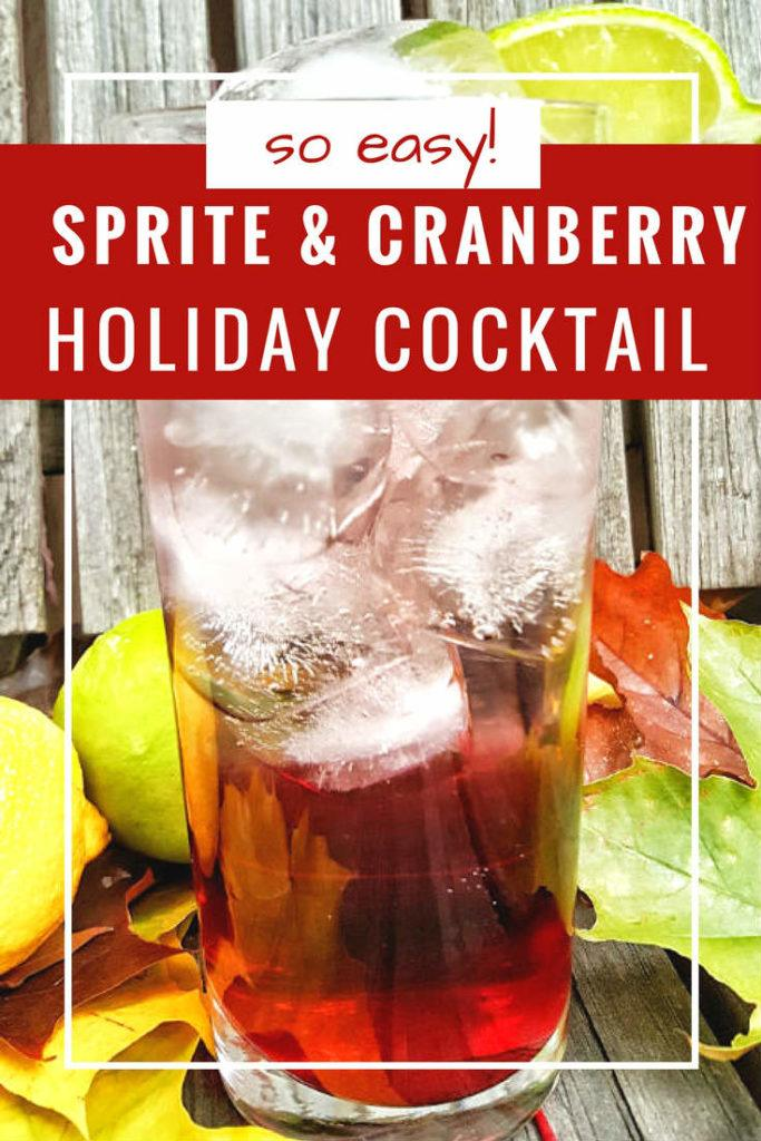 Sprite and cranberry holiday cocktail