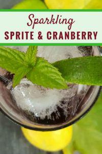 Sprite cranberry cocktail