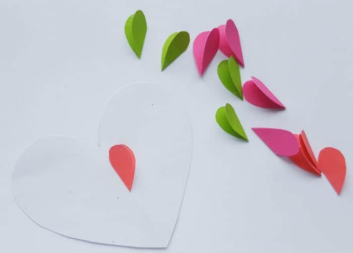 Step 3 Heart craft starting flower