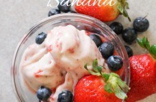 Strawberry Blueberry Banana Yonanas Frozen Dessert