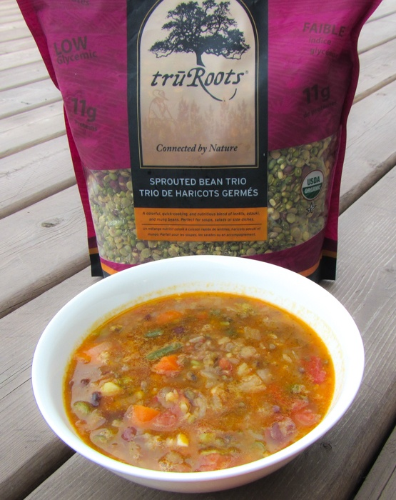 Vegetarian Bean Soup Recipe With Sprouted Lentils Mung Beans And