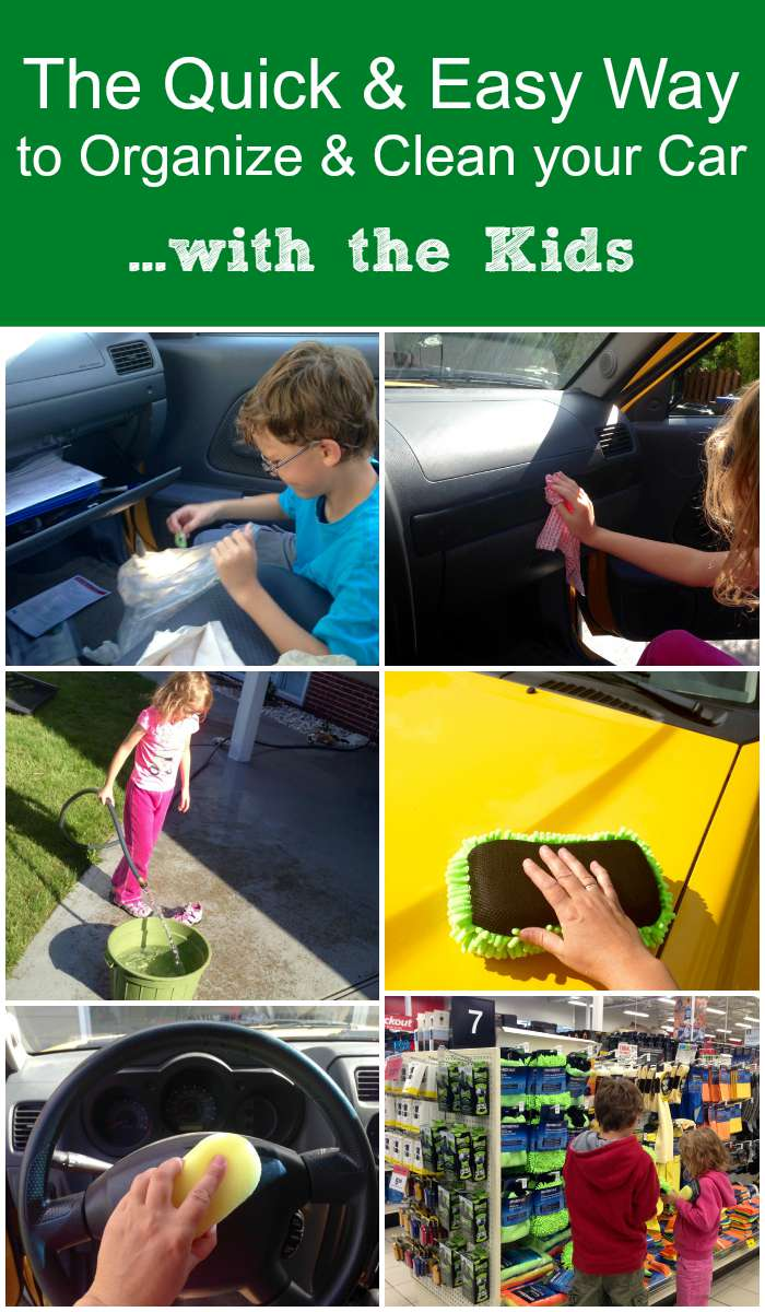 The Quick and Easy Way to Organize & Clean Your Car with the Kids