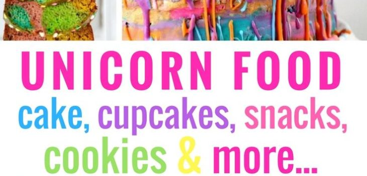We love unicorn food over here! Check out our very favorite recipes for unicorn cake, cupcakes, snacks, cookies, and more! #unicorn #unicorncake #dessert #rainbow #dessertrecipes