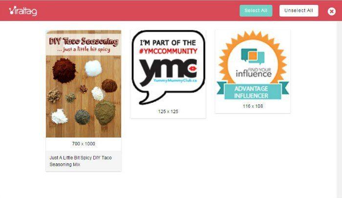 ViralTag Select Pin Image