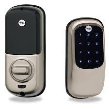 Yale Keyless Deadbolt Front and Back