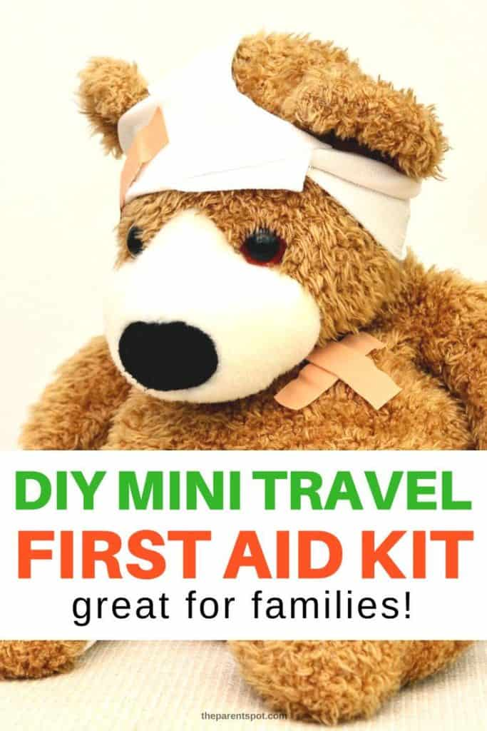 a DIY mini travel first aid kit that is great for kids and summer fun