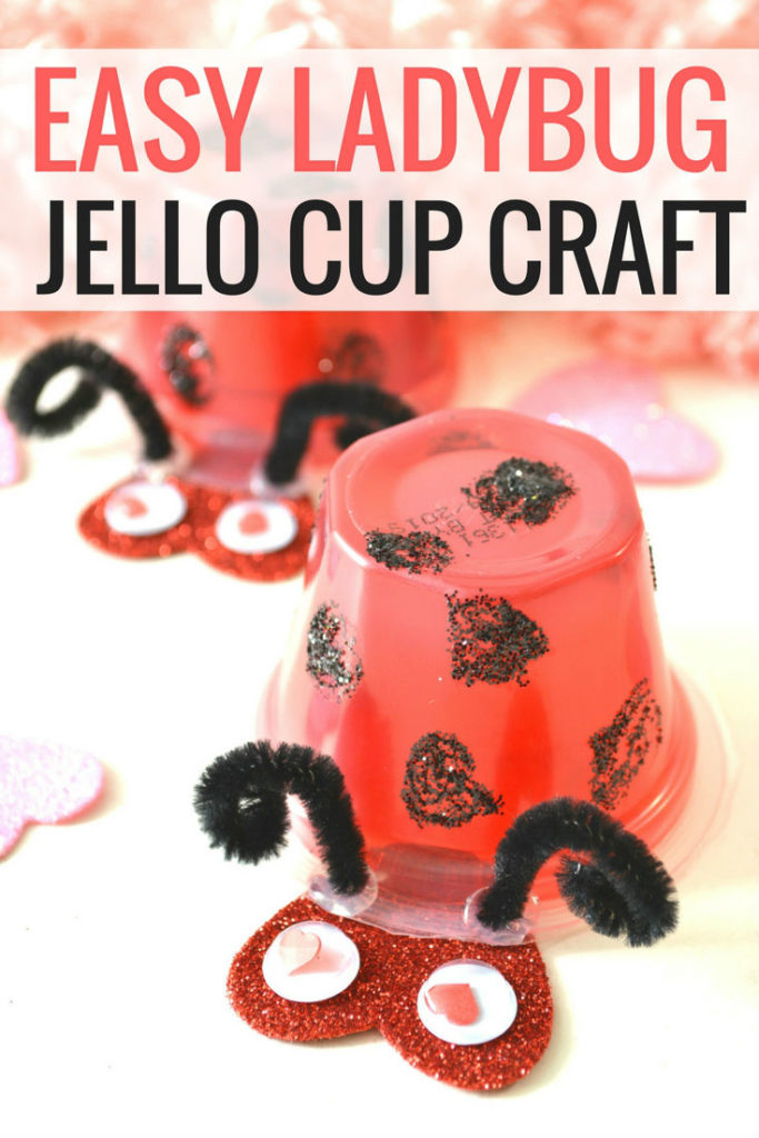 This ladybug craft is so easy to make! All you need is a jello cup, or fruit cup, and supplies you probably already have at home | easy ladybug craft | simple ladybug craft | ladybug craft with googly eyes | jello craft #craft #craftsforkids