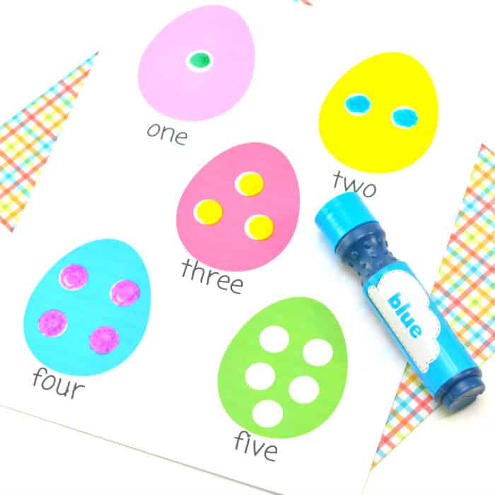 full Easter Egg Dot Marker printable partially colored