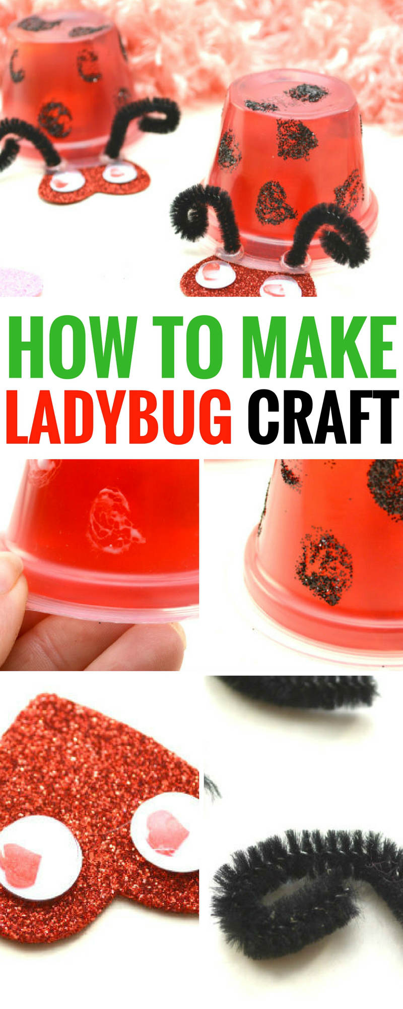 How to make a ladybug craft. This is so easy, comes with complete directions, and it's a blast to DIY yourself, or with the kiddos | ladybug crafts DIY | how to make a ladybug craft | easy ladybug craft | simple ladybug craft #craft #kids #ladybug #crafts for kids ladybug craft with googly eyes