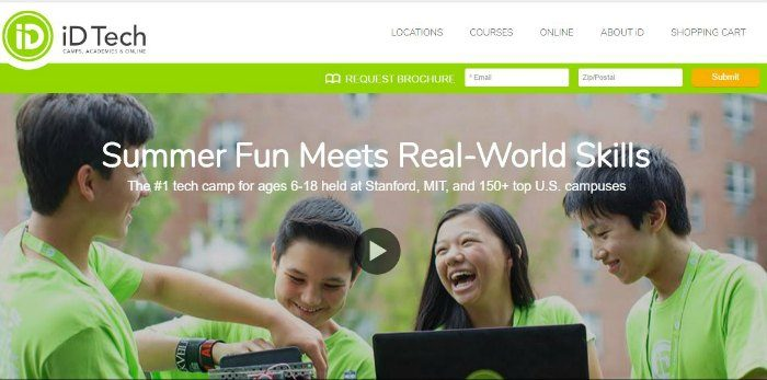 iDTech Summer Fun camps Homepage