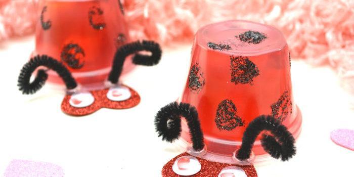 jello valentines kids craft ladybug