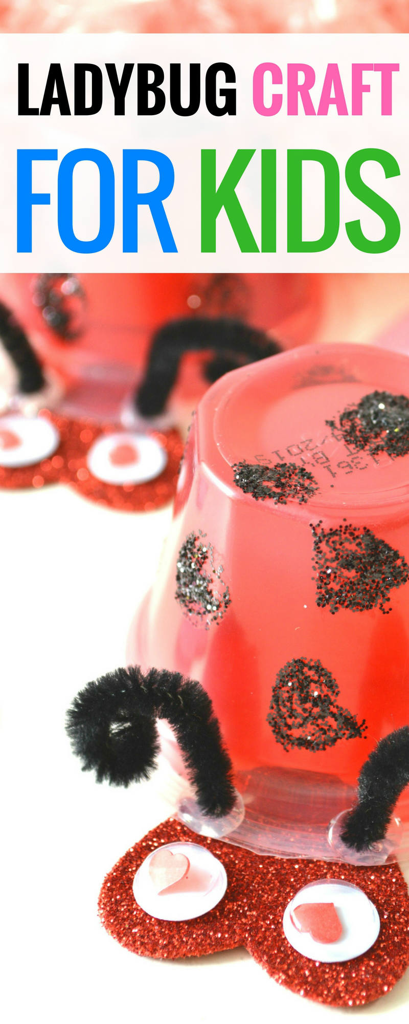 ladybug crafts for kids This is such a fun ladybug craft to make with kids. It's great for valentine's day with the red hearts as well. Kids will have fun with this easy DIY craft   ladybug crafts   ladybug crafts for toddlers   ladybug crafts preschool #craft #craftsforkids