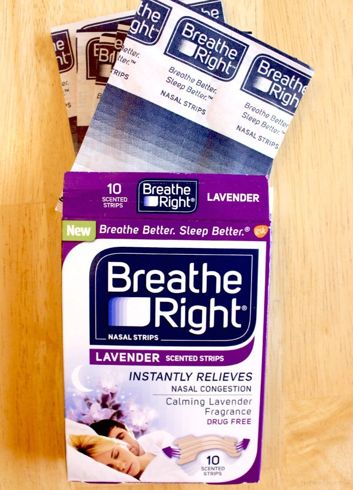 lavender scented Breathe Right Strips