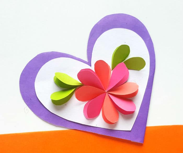 mothers day heart of paper for teens w