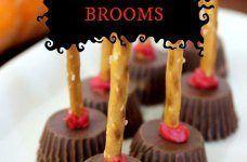 oh so very easy Reeses Halloween Brooms