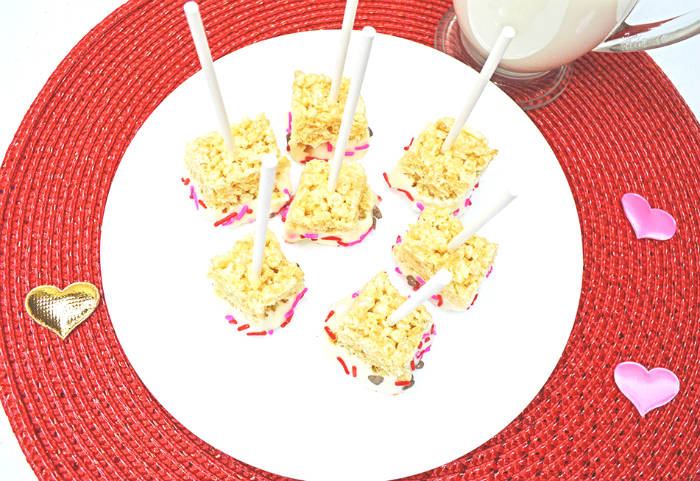 rice krispie pops from above